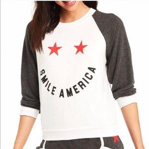 Wildfox Smile America Sweatshirt—S